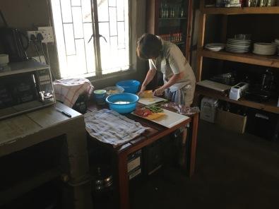 Rita in Ivory Camp kitchen
