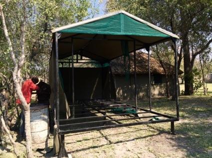 New Chalet/tent under construction